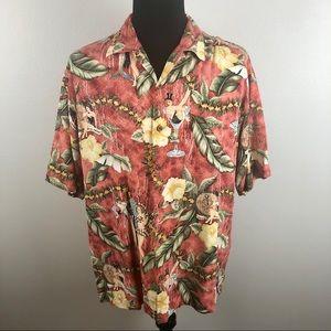 Tommy Bahama Pin-up Girls Hawaiian Silk Shirt L